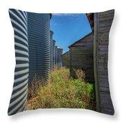Back Alley On The Prairies Throw Pillow