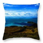 Landscape Graphic Throw Pillow