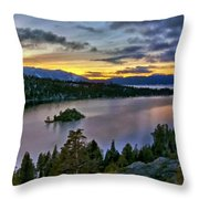 P W Landscape Throw Pillow