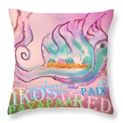 Peace All Over The World Throw Pillow