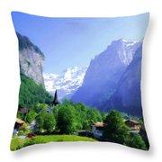 Show Landscape Throw Pillow