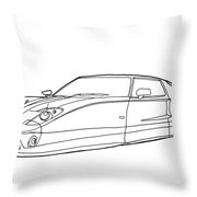 2102 Ford Gt Throw Pillow