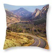 212308 Road To Sheep Creek Canyon Throw Pillow