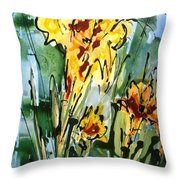 Heavenly Flowers Throw Pillow