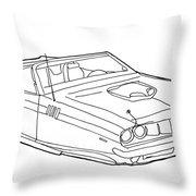 2173 Hemi Cuda Throw Pillow