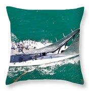 Key West Regatta Throw Pillow