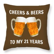 21st Birthday Gifts For Him Her Throw Pillow