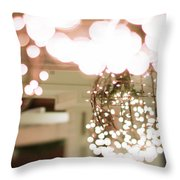 Christmas Lights Holiday Decorations Around Charlotte North Caro Throw Pillow