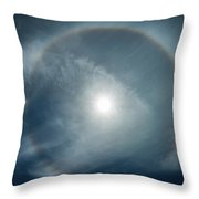 22 Degree Solar Halo Throw Pillow