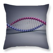 Dna Structure Throw Pillow