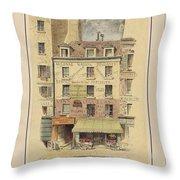Drawn To Paris Throw Pillow