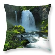 K D Landscape Throw Pillow