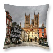 Lincoln England United Kingdom Uk Throw Pillow