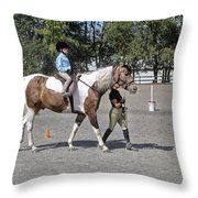 Manito Equestrian Center Benefit Horse Show Throw Pillow
