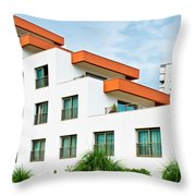 Modern Building Throw Pillow