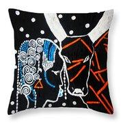 Nuer Bride - South Sudan Throw Pillow