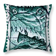 Old Dutch Postage Stamp Throw Pillow