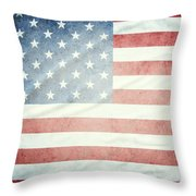 American Flag 37 Throw Pillow