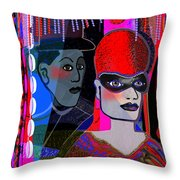 224   Mardi Gras  A Throw Pillow