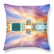 22nd Century Floating Cities Sunrise 01 Throw Pillow