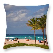 23- A Day At The Beach Throw Pillow