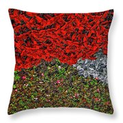 Flower Carpet. Throw Pillow