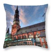 Hamburg Germany Throw Pillow
