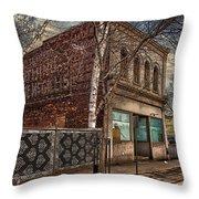 232 Simpson St. Texture Throw Pillow