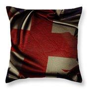 British Flag 5 Throw Pillow