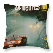 24 Hours Of Le Mans - 1971 Throw Pillow