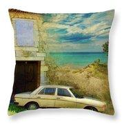24 Hr Parking By The Beach Throw Pillow