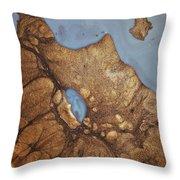 24 Karat Eruption Throw Pillow