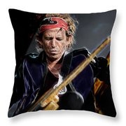Keith Richards Collection Throw Pillow