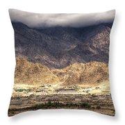 Landscape Of Ladakh Jammu And Kashmir India Throw Pillow
