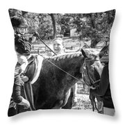 Manito Equestrian Center Benefit Horse Show Throw Pillow