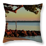 24- Morning In North Palm Beach Throw Pillow