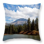 Mt. Lassen National Park Throw Pillow