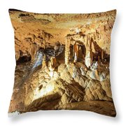 Onondaga Cave Formations Throw Pillow