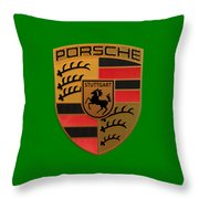 Porsche Label Throw Pillow