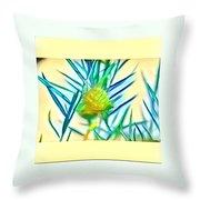 Swan Plant Throw Pillow
