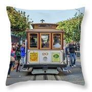 2416- Cable Car Throw Pillow