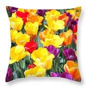 Amsterdam Tulips. Throw Pillow