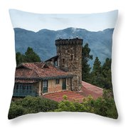 Bogota Cerro De Monserrate Throw Pillow