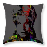 David Bowie Collection Throw Pillow