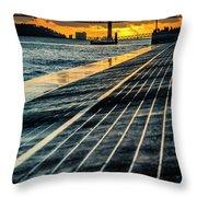 25 De Abril Bridge In Lisbon. Throw Pillow