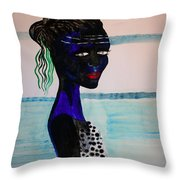 Nuer Bride - South Sudan Throw Pillow