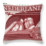 Old Dutch Postage Stamp Throw Pillow