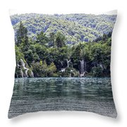 Plitvice Lakes National Park Croatia Throw Pillow