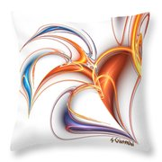 252-hearts In Love Throw Pillow