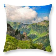 Nature Art Landscape Throw Pillow